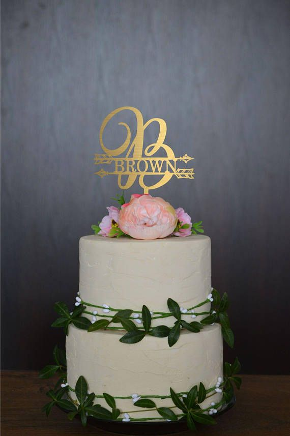 Monogram B Wedding Topper, Last Name Cake Toppers, Wedding Cake Topper  Letter, Last Name Sign, Initial Cake Topper Single Letter Cake Topper |  Letter Cake ...