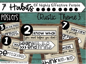 This Poster Set Is Inspired By Stephen R Covey 39 S 7 Habits Of