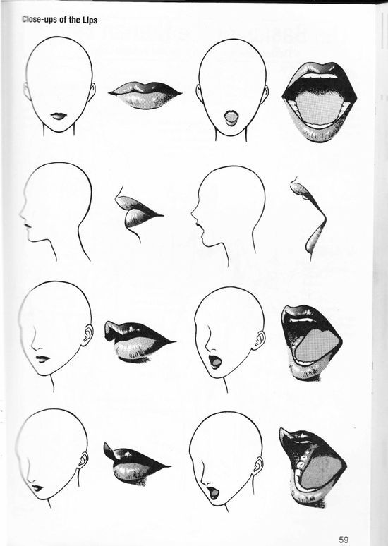 more how to draw mouths lips