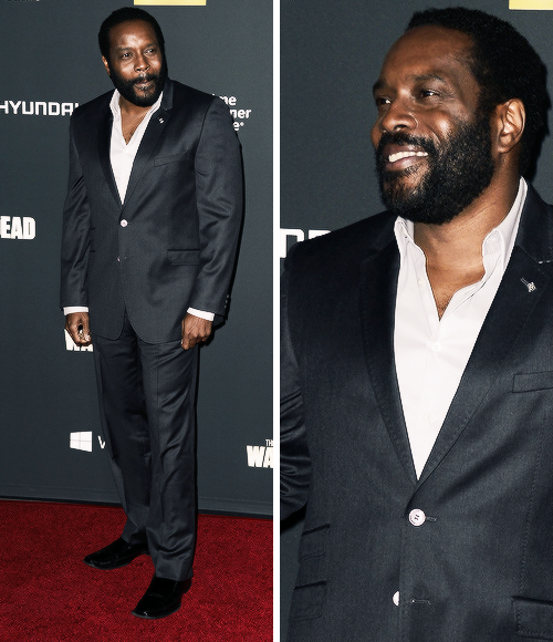 Chad Coleman, TWD, S4 premiere @ Universal CityWalk, Universal City, California 10-3-13