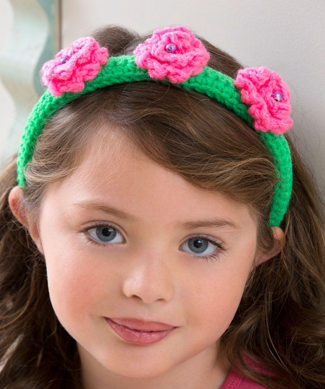 Free Crochet Flower Patterns Printable Flower Top Headband Crochet