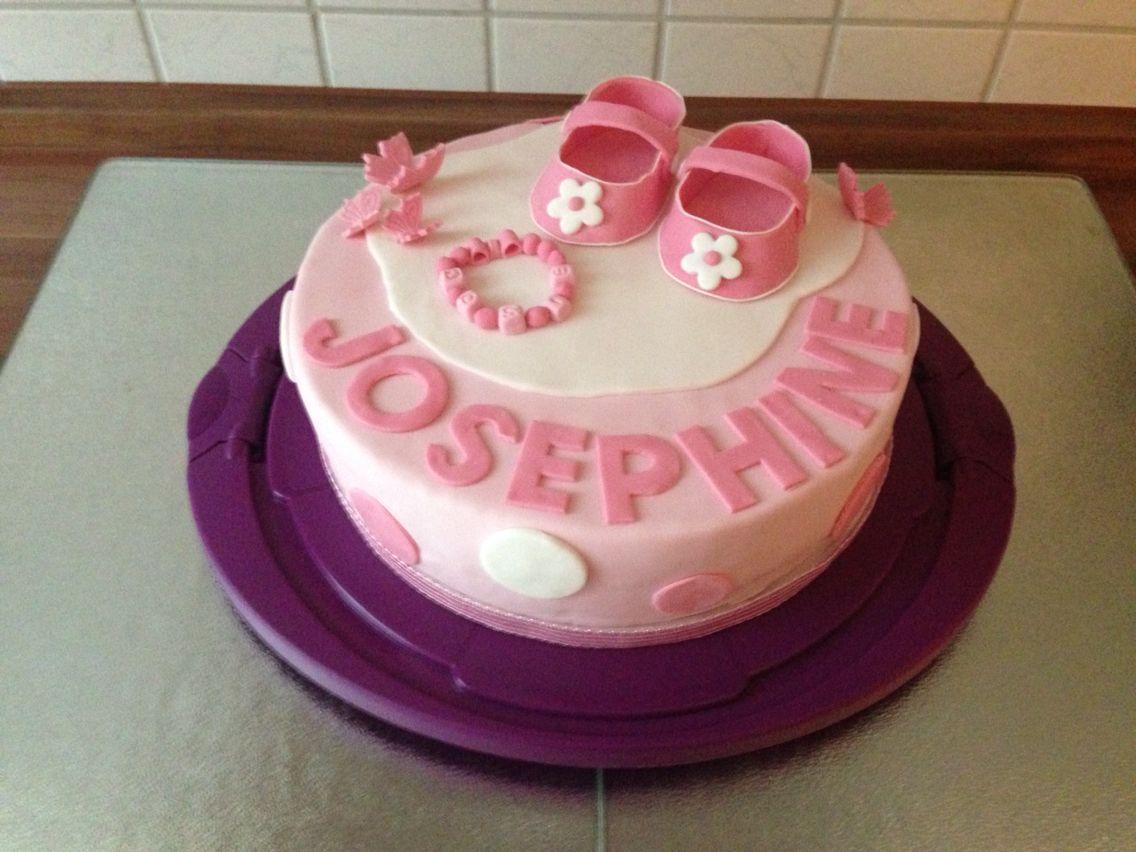 rosa babytorte schuhe in pink aus fondant torte zur geburt m dchen shower cake girl. Black Bedroom Furniture Sets. Home Design Ideas