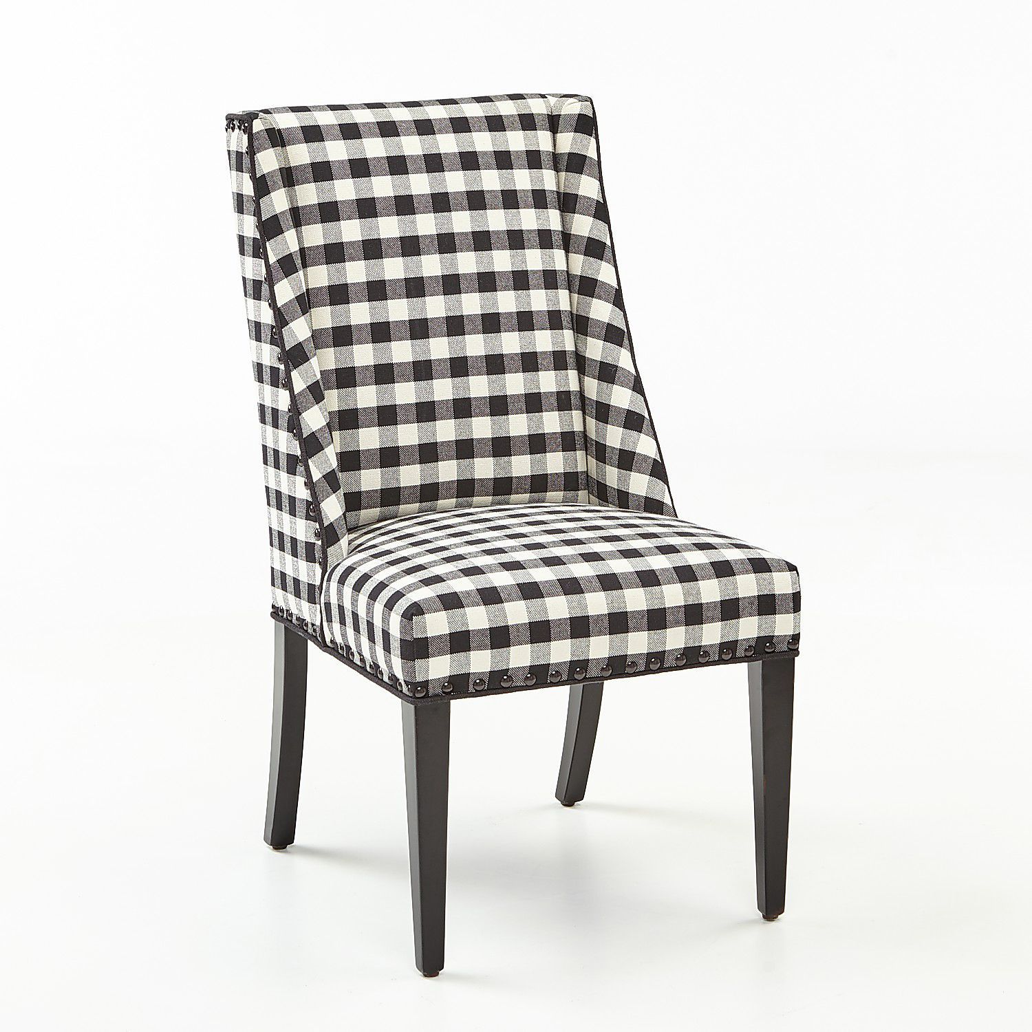 Stupendous Owen Black White Buffalo Check Dining Chair With Black Squirreltailoven Fun Painted Chair Ideas Images Squirreltailovenorg