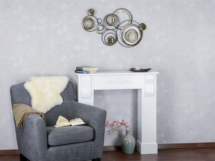 WAND-DEKO Design Art - Kreise II aus Metall Breite 78cm Höhe 48cm - wohnzimmer deko gold