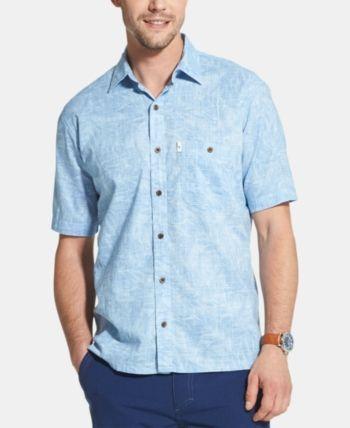 GH Mens Casual Graphic Print Classic Version Long Sleeve Plus Size Cotton Shirt