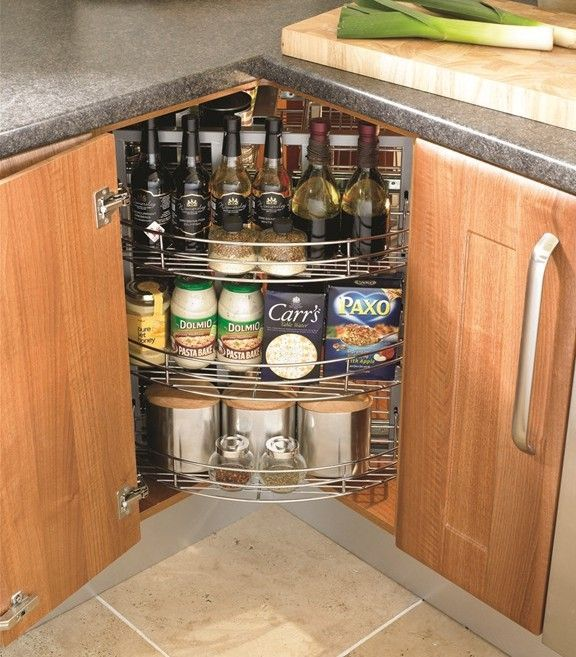 Elegant Rotating Shelves Kitchen Cabinets