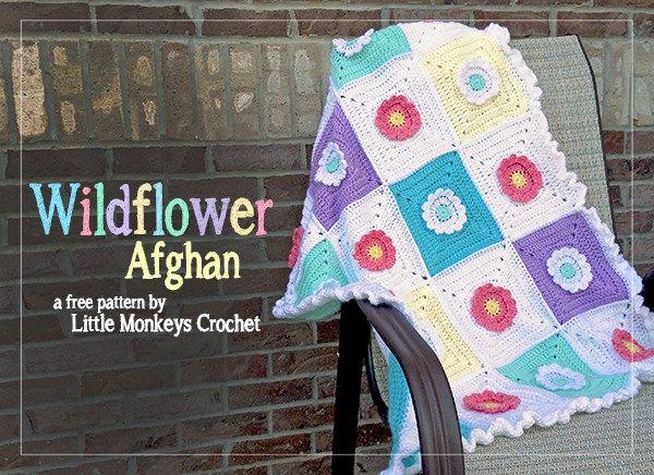 Wildflower Crochet Afghan Pattern | Crochet tunecino