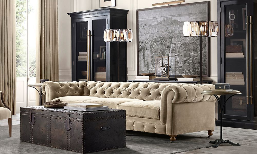 Rooms | Restoration Hardware   Love The Kensington Sofa U0026 Map Of Lower  Manhattan With Picture