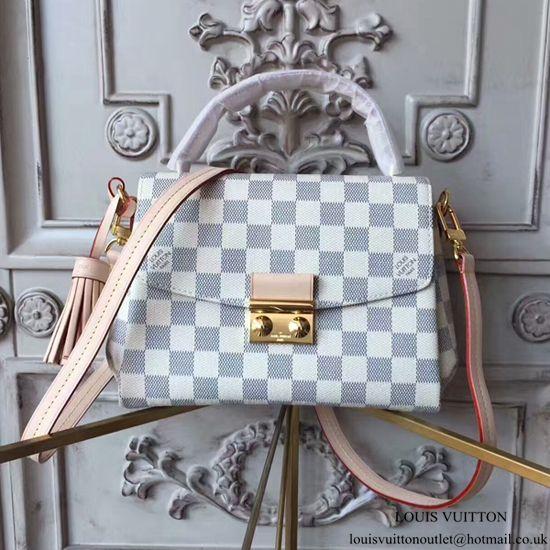 Louis Vuitton N41581 Croisette Crossbody Bag Damier Azur Canvas ... 6d054c7215f6e