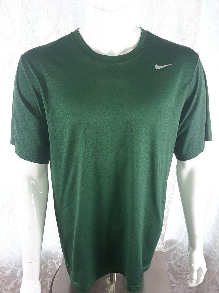bc2ff514 NIKE Men's XL The Nike Tee DRI-FIT Athletic Cut SHIRT Top Crew ss Dark  Green #Nike #ShirtsTops