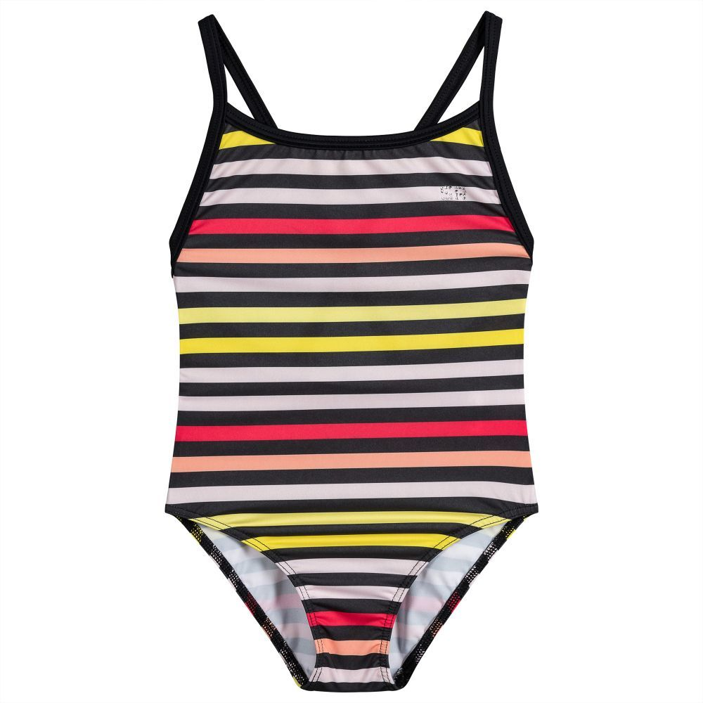 1fe97995724 Beautifully soft and silky, this colourfully striped 'Ambrine' swimsuit by Sonia  Rykiel Paris for girls, is stretchy and comfortable to wear.