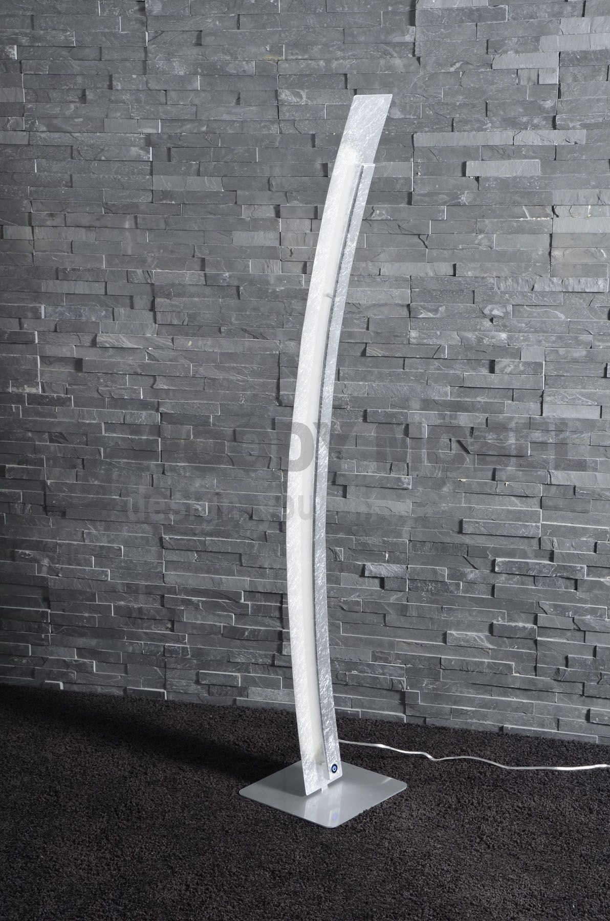 Faszinierend Stehlampe Bogen Ideen Von 30 Watt Led Dimmbar Woody 83-00373 Silber