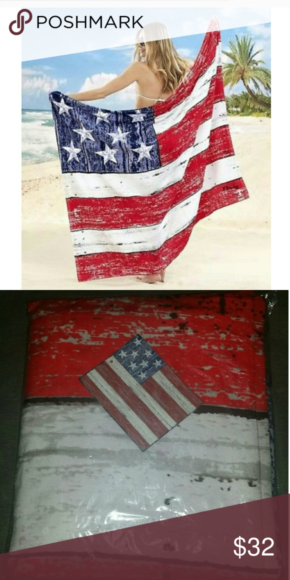 Oversized Americana Beach Towel For