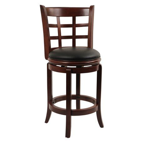 Boraam 24 Inch Kyoto Swivel Counter Stool Multiple Colors Red