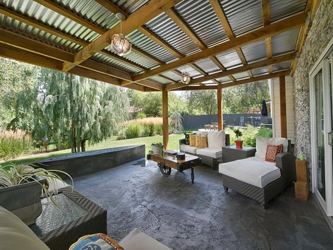corrugated metal porch roof patio