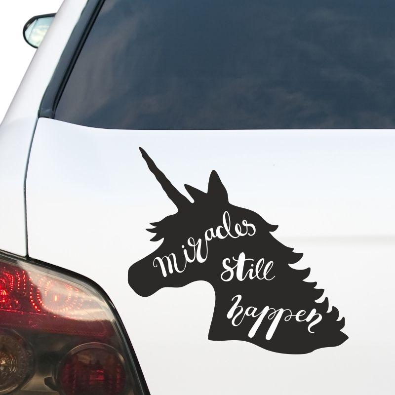Autoaufkleber Einhorn Unicorn Spruch Aufkleber Auto