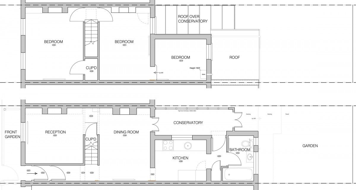 Remodelling The Two Up Two Down Basement House Plans Courtyard House Plans House Plans