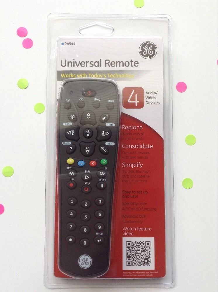how to program a ge 6 universal remote without codes