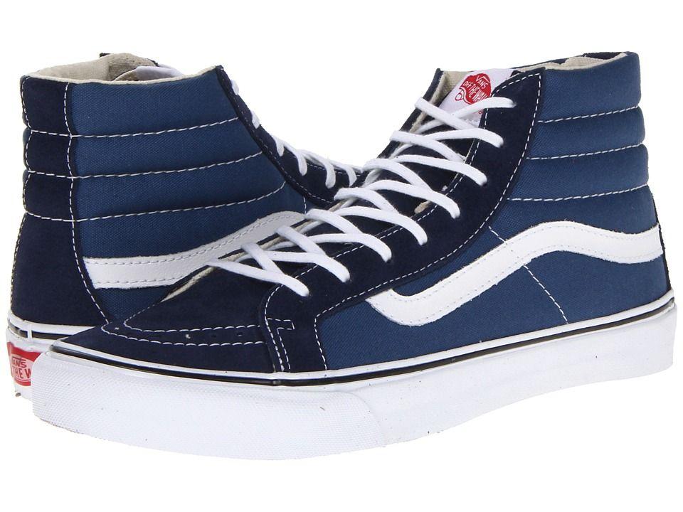 Vans Sk8-Hi Slimtm Core Classics Skate Shoes Navy/White