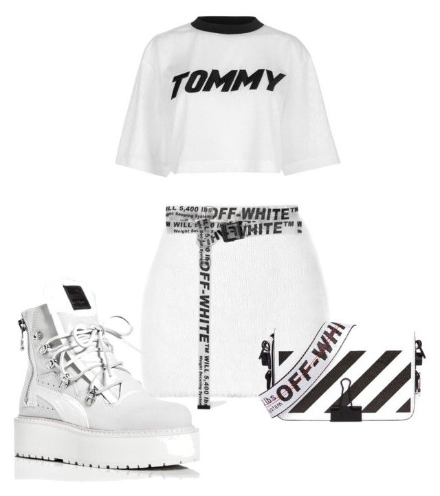 4334262aaa06 all white + off-white by haisleigh on Polyvore featuring polyvore, fashion,  style, Tommy Hilfiger, Rodarte, Puma, Off-White and clothing