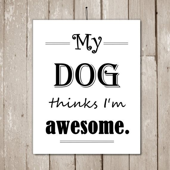 INSTANT DOWNLOAD Funny Dog Quotes Printable Artwork By