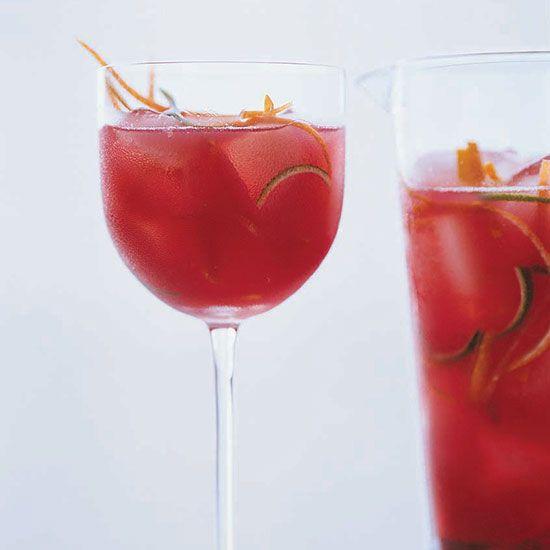 Pinot Noir, cranberry juice, orange juice, Chambord, Sprite, citrus zest // More Fabulous Pitcher Drinks: http://www.foodandwine.com/slideshows/pitcher-drinks #foodandwine