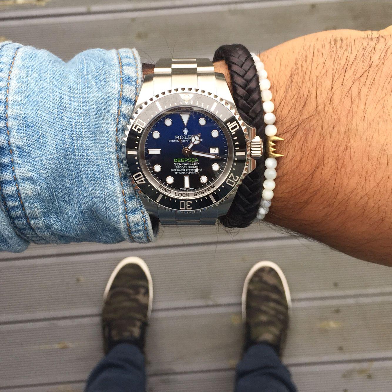 Rolex Deepsea D Blue X Surr Brafelets X Camo Shoes