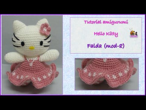 Tutorial amigurumi Hello Kitty - Cuerpo (mod-8) - YouTube ...