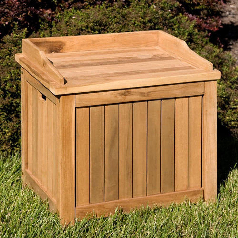Holley 6 Ft Teak Storage Box Teak Storage Outdoor Storage Bench