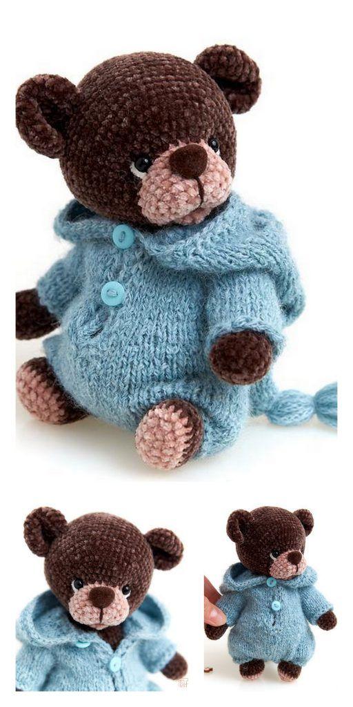 Amigurumi Teddy Bear in Pajamas Free Pattern – Free Amigurumi Patterns