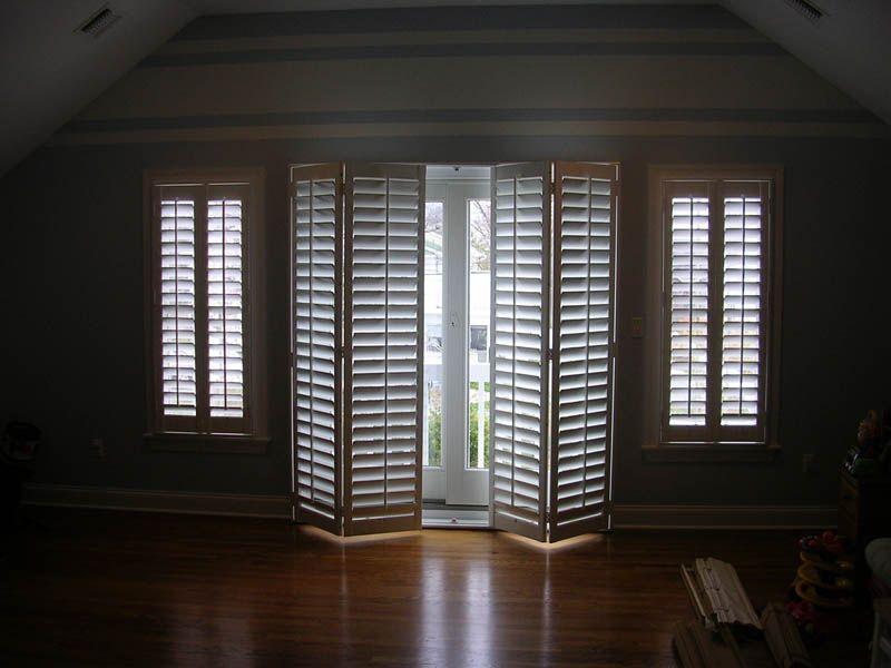 In love must find these bi fold plantation shutters for sliding window treatments for sliding glass doors curtain for french sliding glass doors by yourself repair solutioingenieria Choice Image