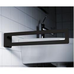 Radius Puro Handtuchhalter schwarz matt zum Kleben Radius Design #toiletpaperrolldecor