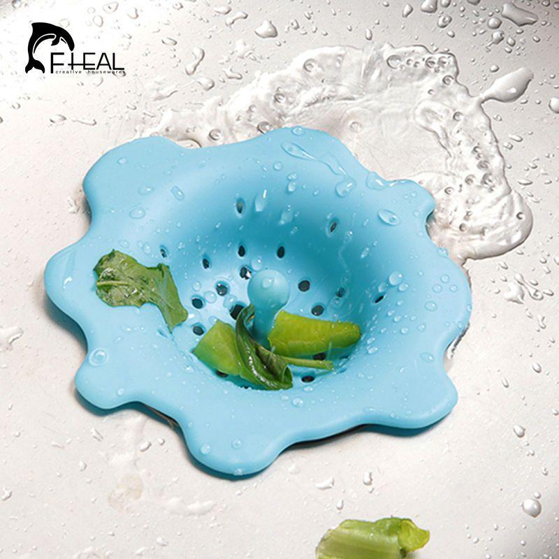 Flower Shape Kitchen Wash Drain Sink Strainer Stopper Tool