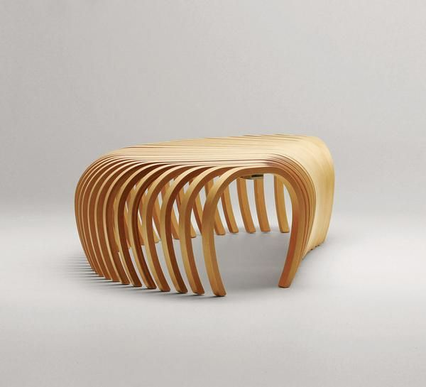 Ribs Bench | Steam Bent Or Glue Laminated Timber Seating | Moveable Shape