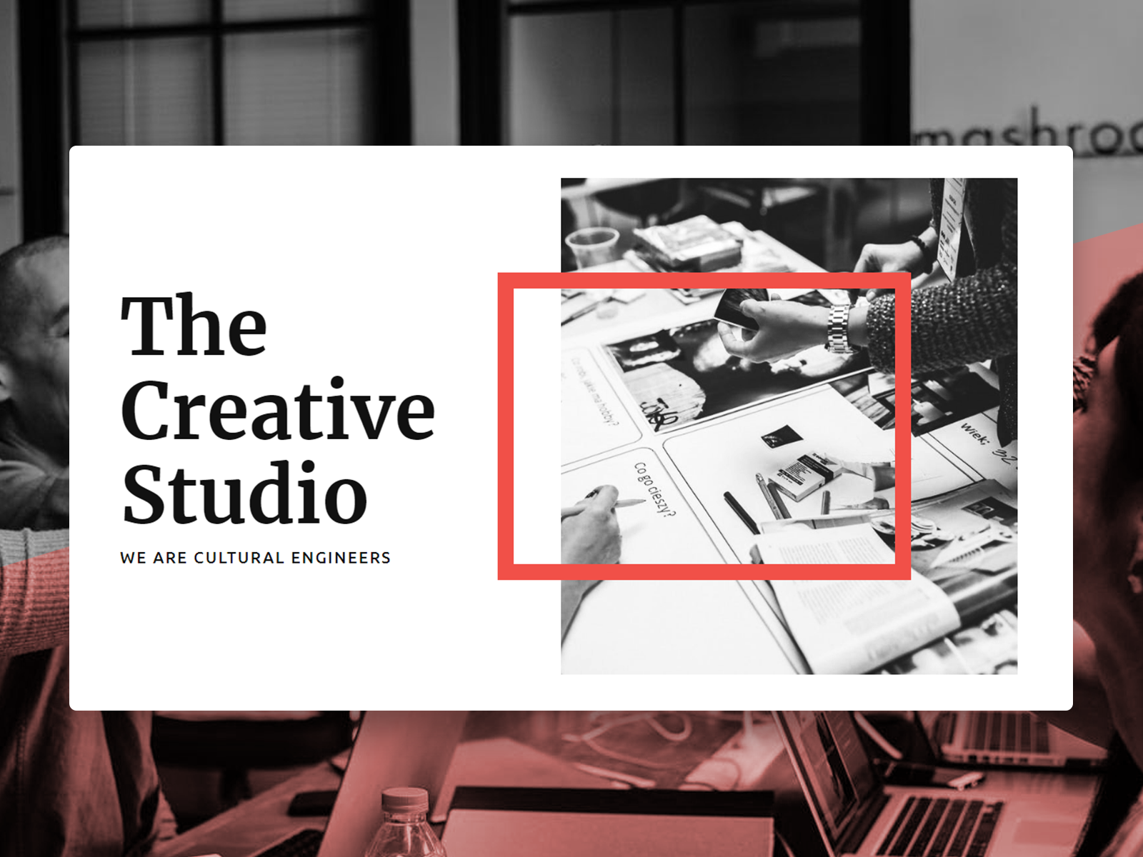 Creative Studio Web Template and start edit this web template