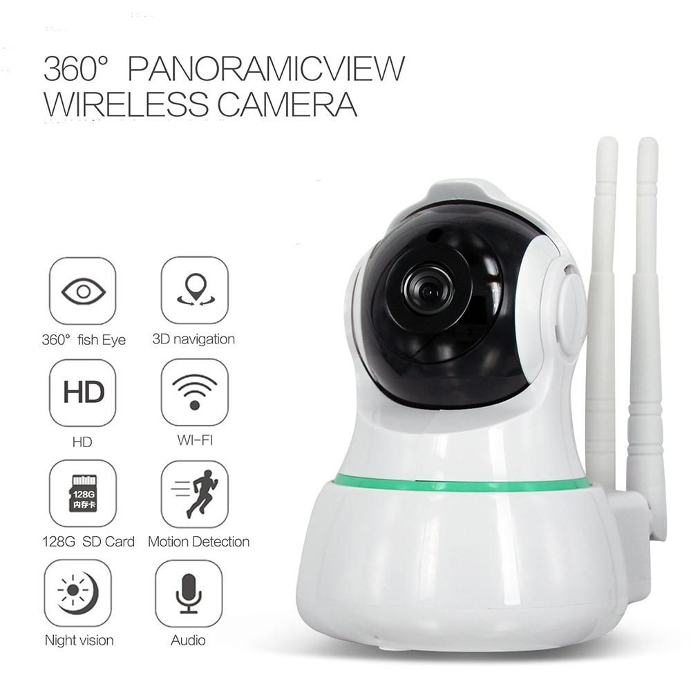 Video Surveillance Hjt Audio H.264 1080p Full-hd Wireless Wifi Ptz Ip Camera Cctv Cam 2.0mp Baby Care Security Fish Eye Wide Angles Sd Storage
