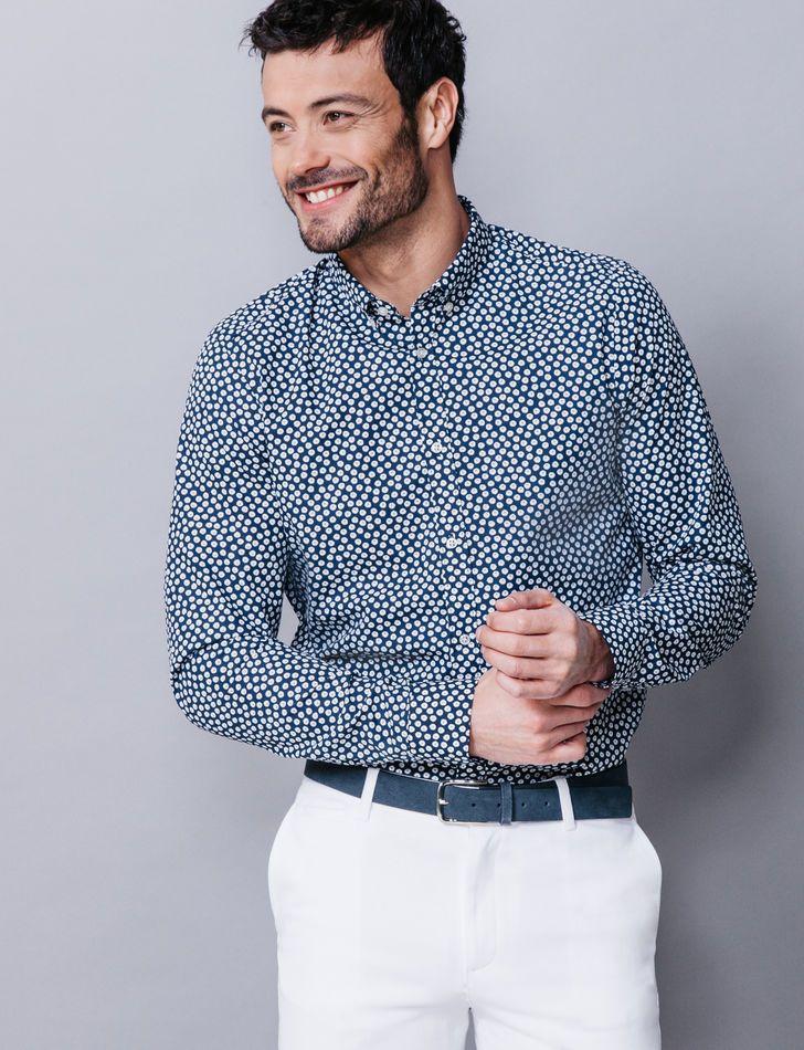 meilleur site web 324d0 fa60e TREND'IS / chemise coton à fleurs slim fit chez BRICE ...