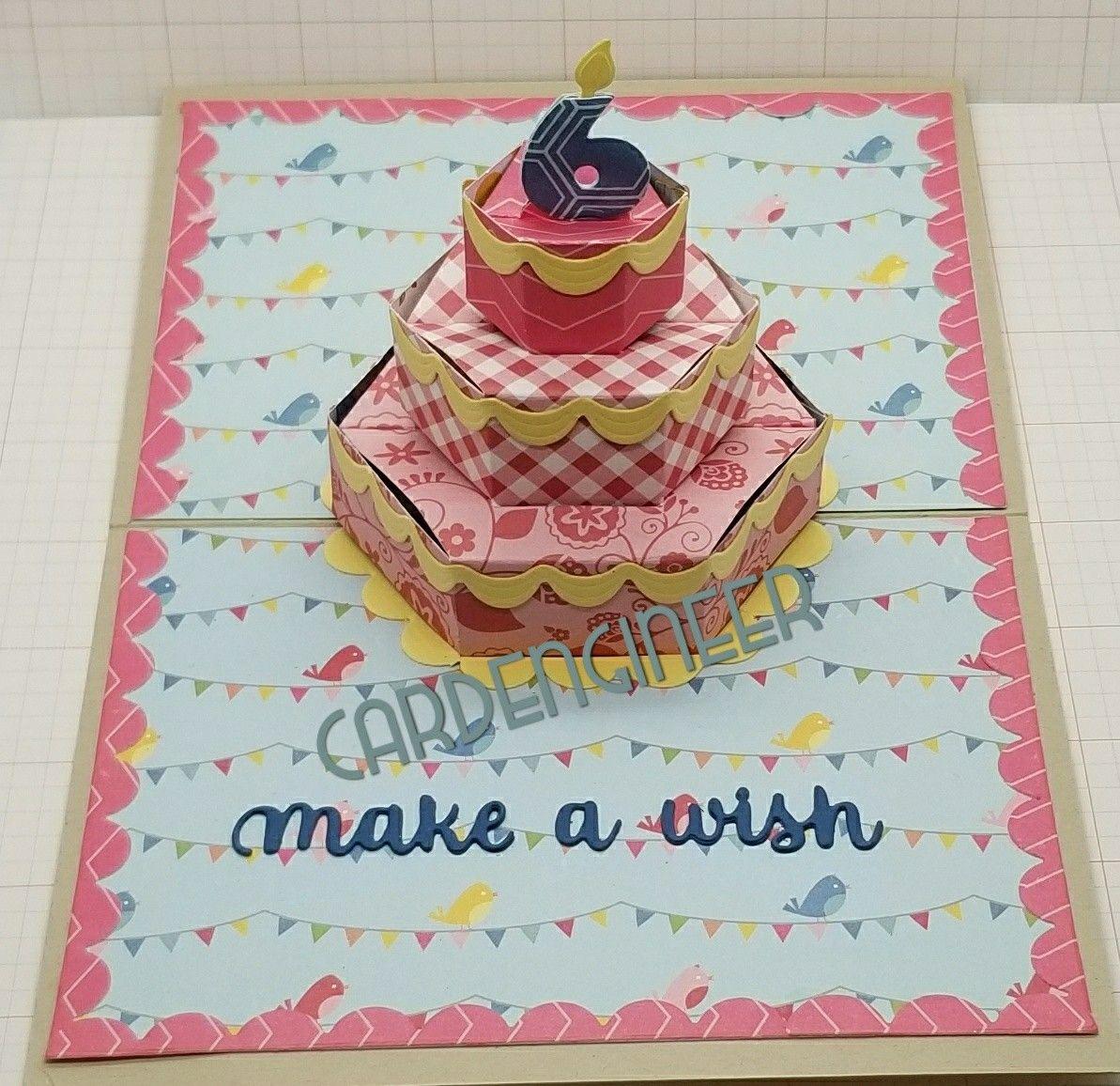 Karen Burniston Cake Pop Up Karen Burniston Pop Up Cards