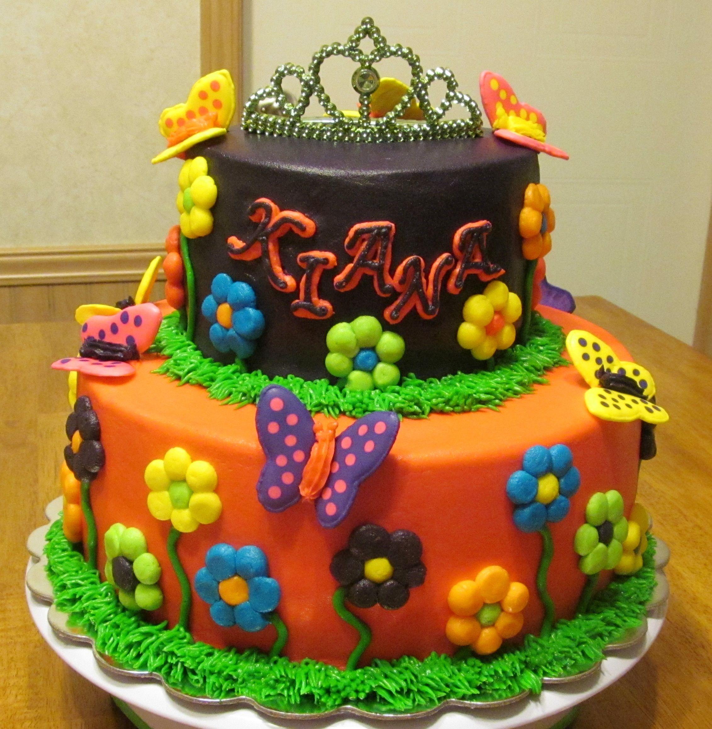Princess garden birthday cake   Garden cakes, Cool ...