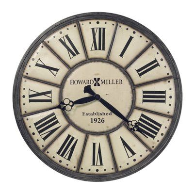 Howard Miller Oversized Company Time 49 Wall Clock Large Iron Wall Clock Gallery Wall Clock Wall Clock Howard miller oversized wall clock