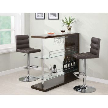 Wildon Home ® Fairlie Bar Table in Cappuccino For my ideas