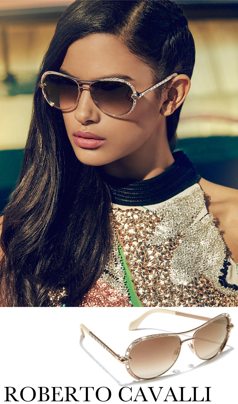 247fa8f311 Roberto Cavalli 59MM Crystal-Embellished Metal Aviator Sunglasses ...