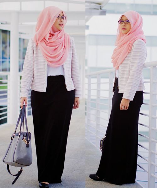 Fashion Hijab Casual Rok Span