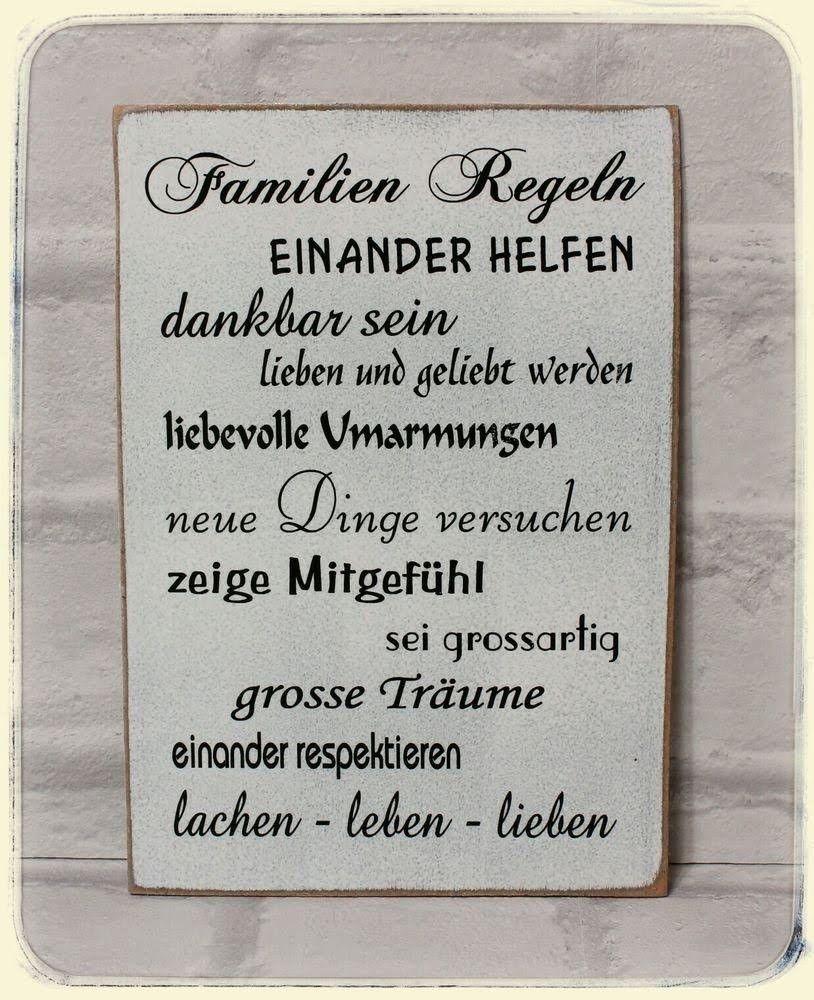 Pin Von Heike Ludwig Auf Bullet Journal In 2021 Familien Regeln Wandschilder Shabby Vintage