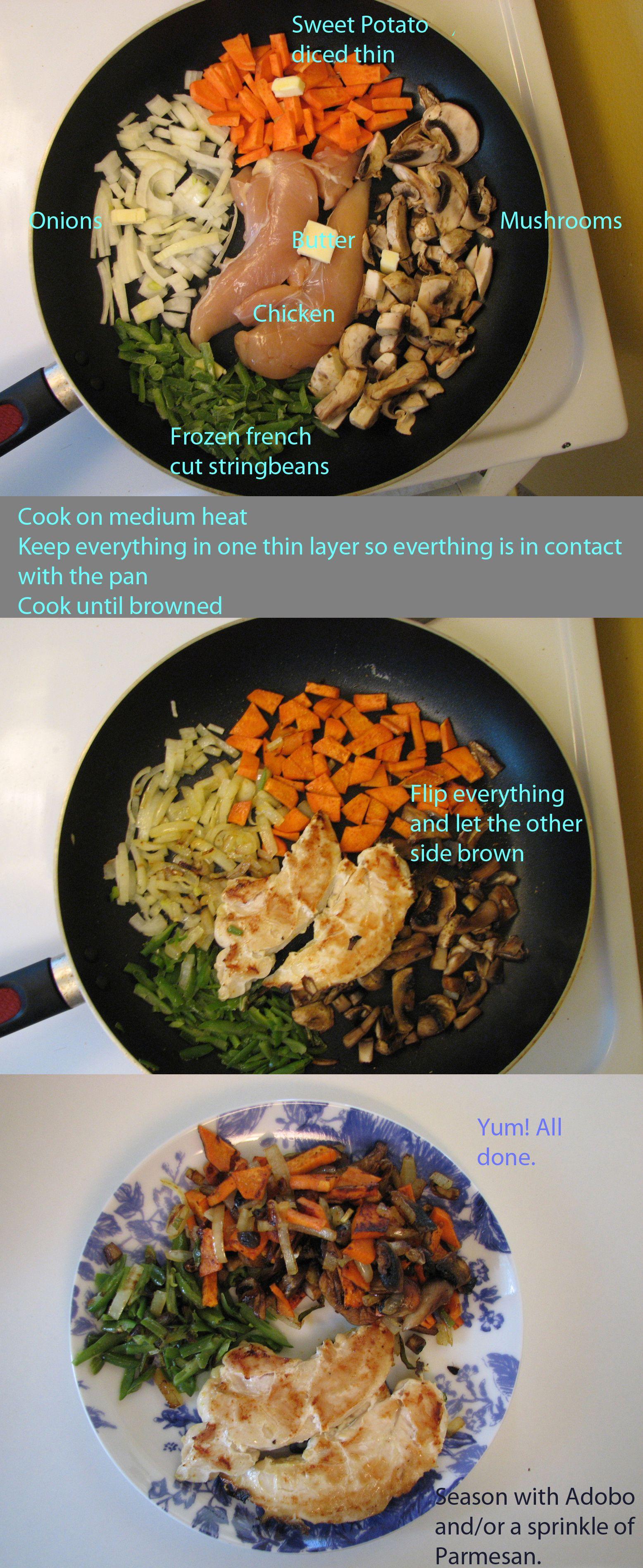 One Pan Dinner For One Person Skillet Dinner Healthy Dinner