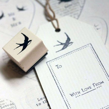 East of India Swallow Rubber Stamp / DIY Tags / Wedding Favours / Craft: Amazon.co.uk: Kitchen & Home