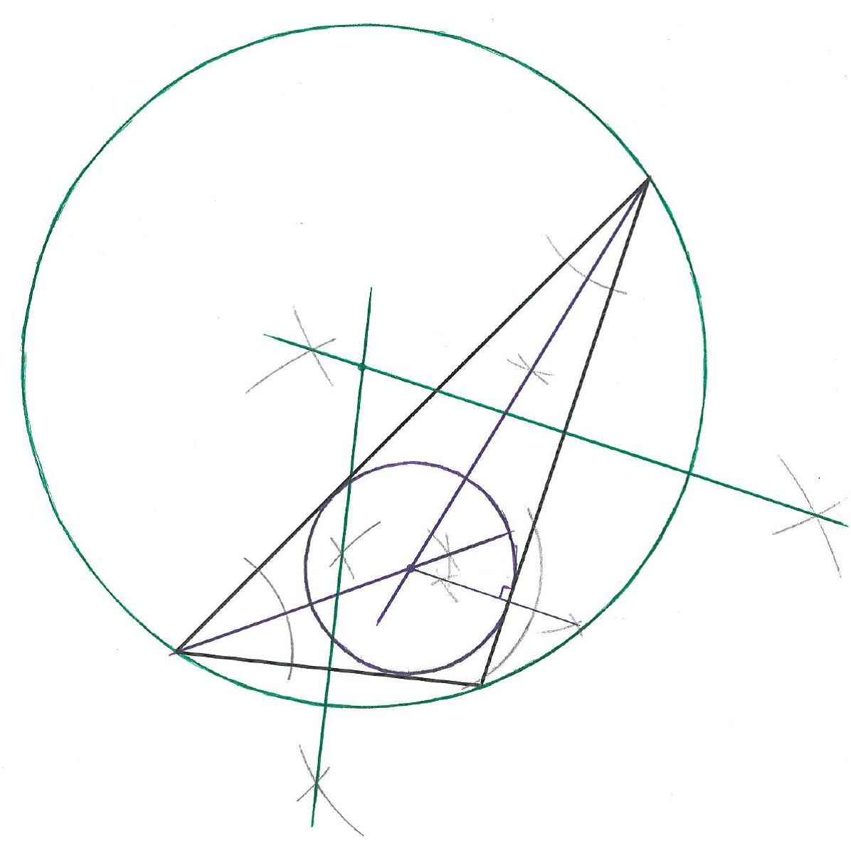 Geometry Constructions Project Construct The Incenter And