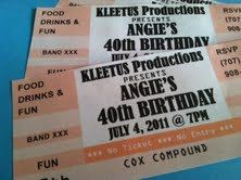 Custom Party Invitations That Look Like Concert Tickets, Alisamariedesigns,  Etsy.  Invitations That Look Like Concert Tickets