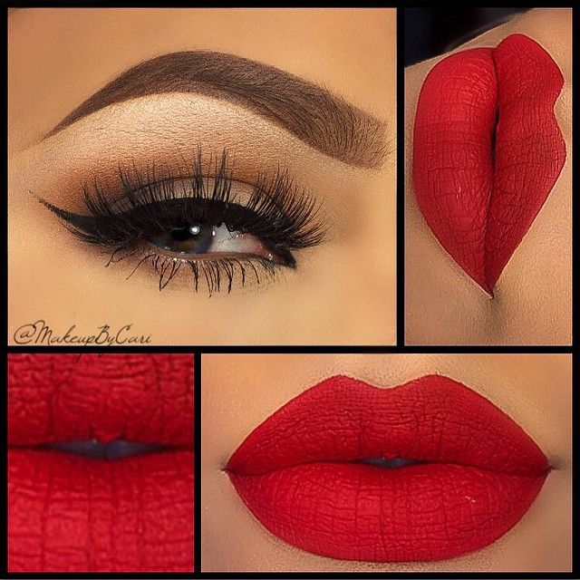 Valentine's Day Makeup Ideas: Neutral Smokey Eyes with Bold Red Lips | Makeup By Cari