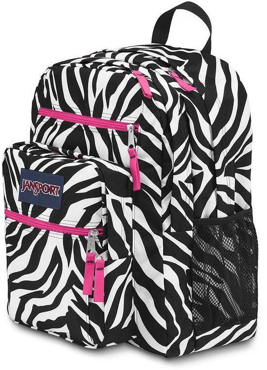 Jansport big student zebra backpack $44.99 | Girls Zebra Print ...